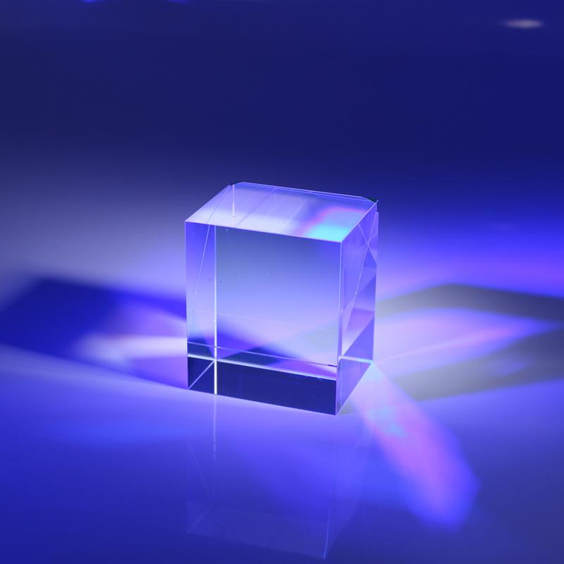 Optical Beamsplitter Cube Glued Prisms