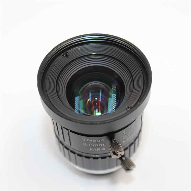 C-Mount 8.0mm Fixed Focal Megapixel CCTV Lens from China factory