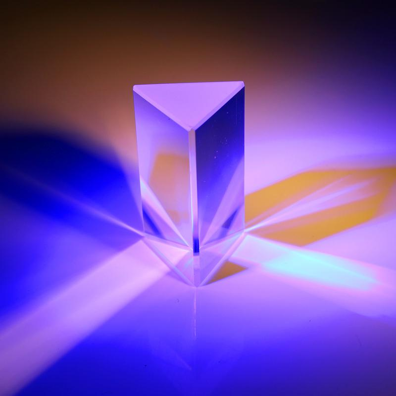Optical Glass Acrylic Triangular Prism Physics Teaching Light Spectrum 30*30*30mm * 150mm